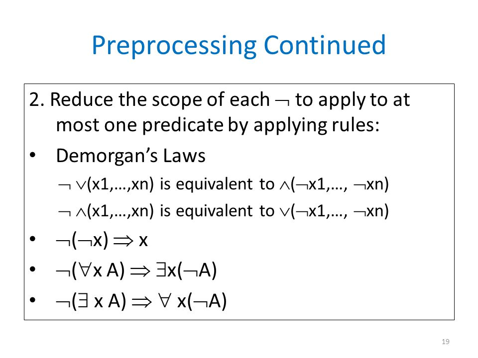 Preprocessing Continued 2.