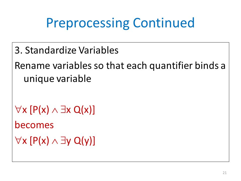 Preprocessing Continued 3.