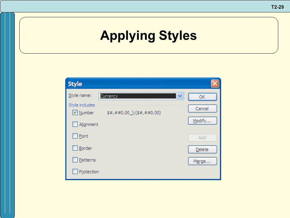 T2-29 Applying Styles