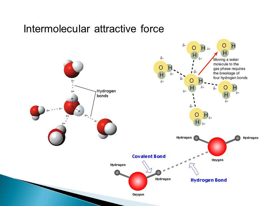 Intermolecular attractive force