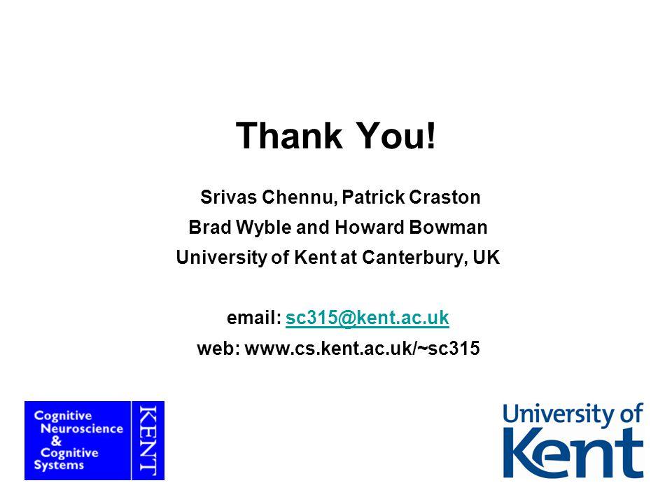 35 Thank You! Srivas Chennu, Patrick Craston Brad Wyble and Howard Bowman University of Kent at Canterbury, UK email: sc315@kent.ac.uksc315@kent.ac.uk