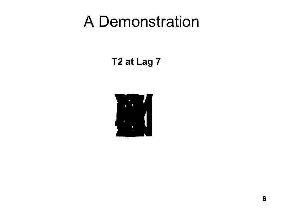 6 A Demonstration T2 at Lag 7 56N257342V94