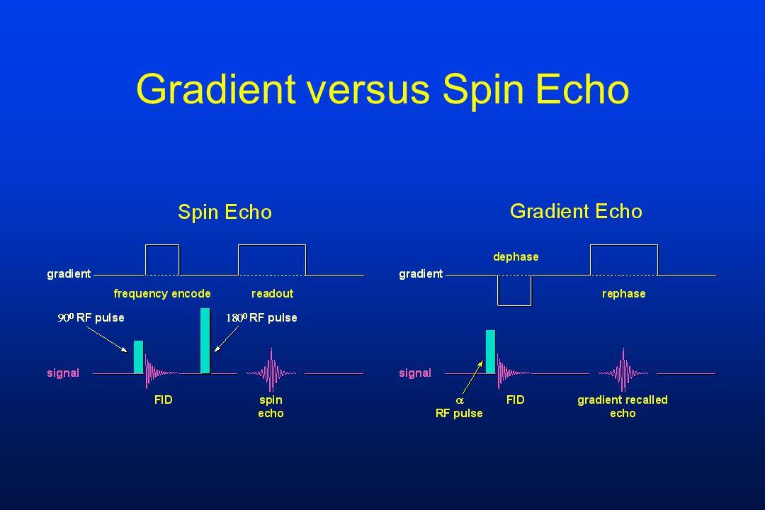Gradient versus Spin Echo