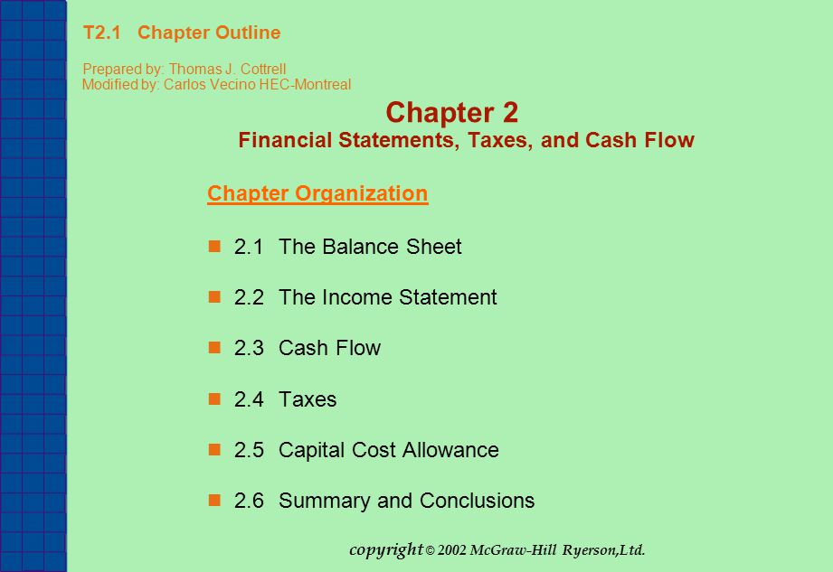T2.1 Chapter Outline Prepared by: Thomas J.
