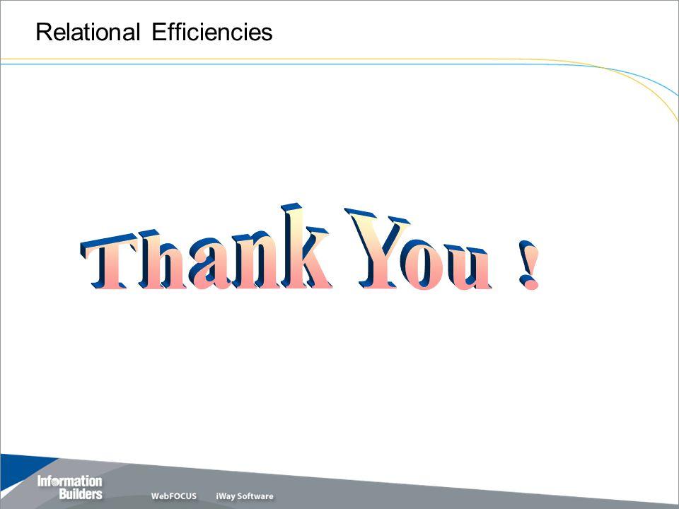 Relational Efficiencies