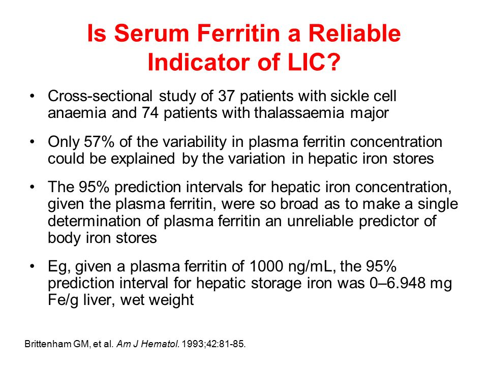 Is Serum Ferritin a Reliable Indicator of LIC.