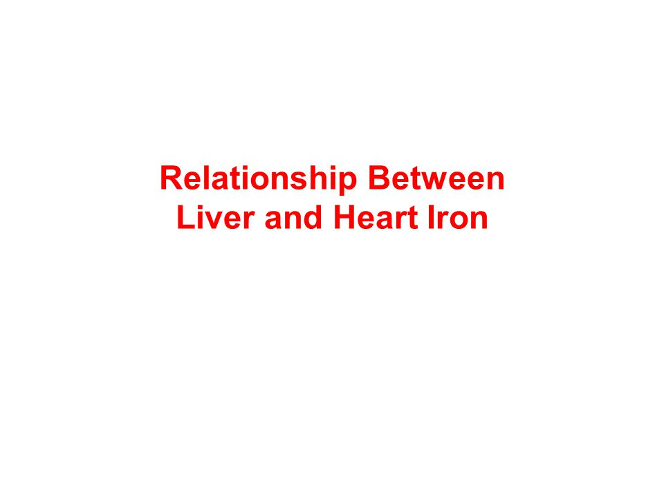 Relationship Between Liver and Heart Iron