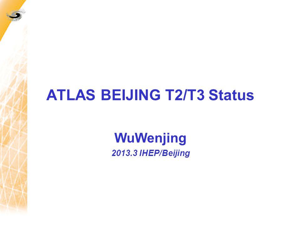 ATLAS BEIJING T2/T3 Status WuWenjing 2013.3 IHEP/Beijing