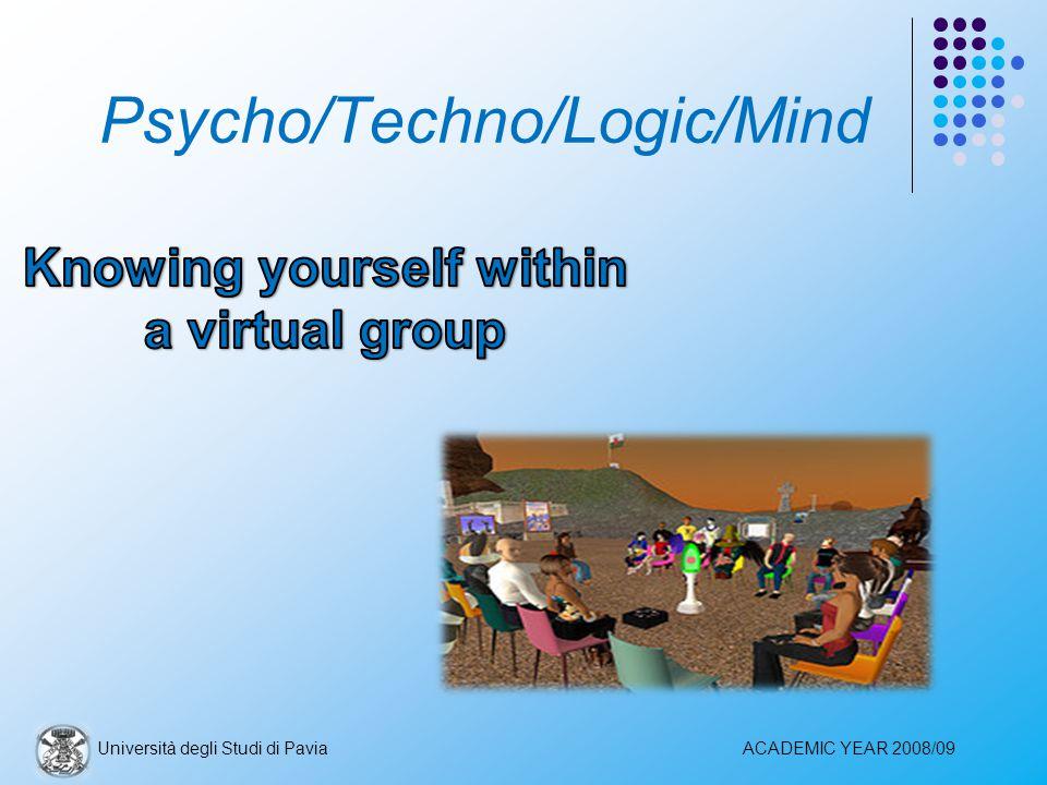 Psycho/Techno/Logic/Mind Università degli Studi di PaviaACADEMIC YEAR 2008/09
