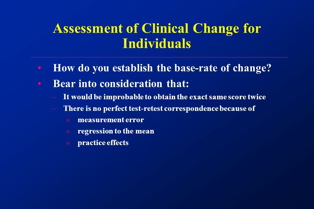 How do you establish the base-rate of change.