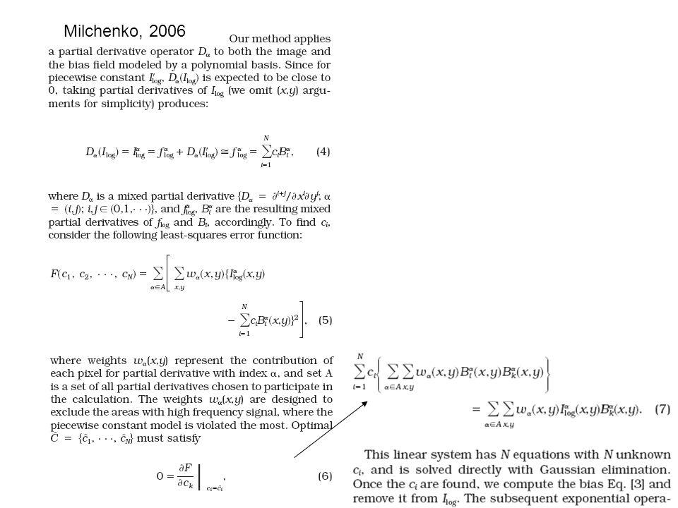 1.2. Removal of field inhomogeneities Shattuck, 2001 orig model biasresult