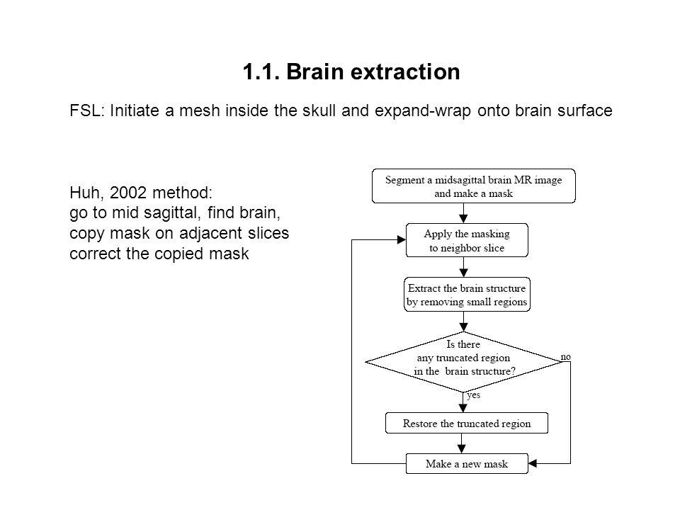 1.1. Brain extraction initial mask adjacent slice j mask of slice j challenge Huh, 2002