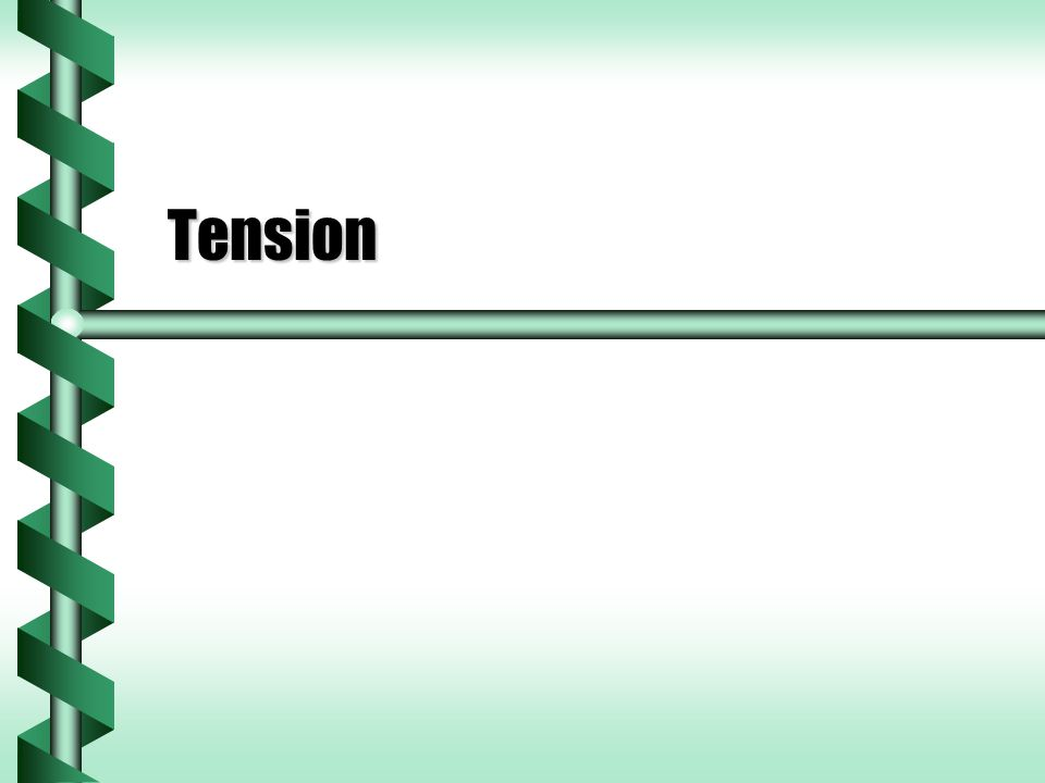 Tension Forces  A taut rope has a force exerted on it.