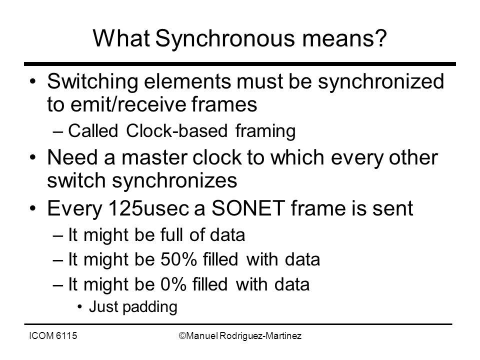 ICOM 6115©Manuel Rodriguez-Martinez What Synchronous means.