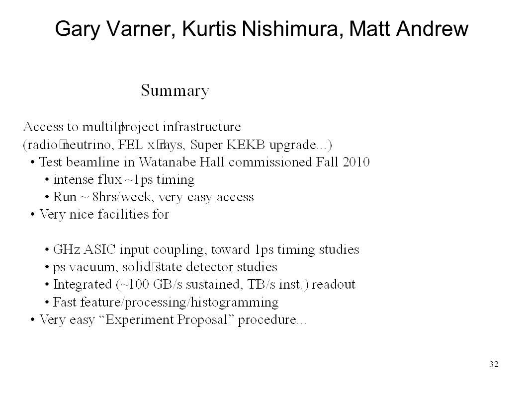 32 Gary Varner, Kurtis Nishimura, Matt Andrew