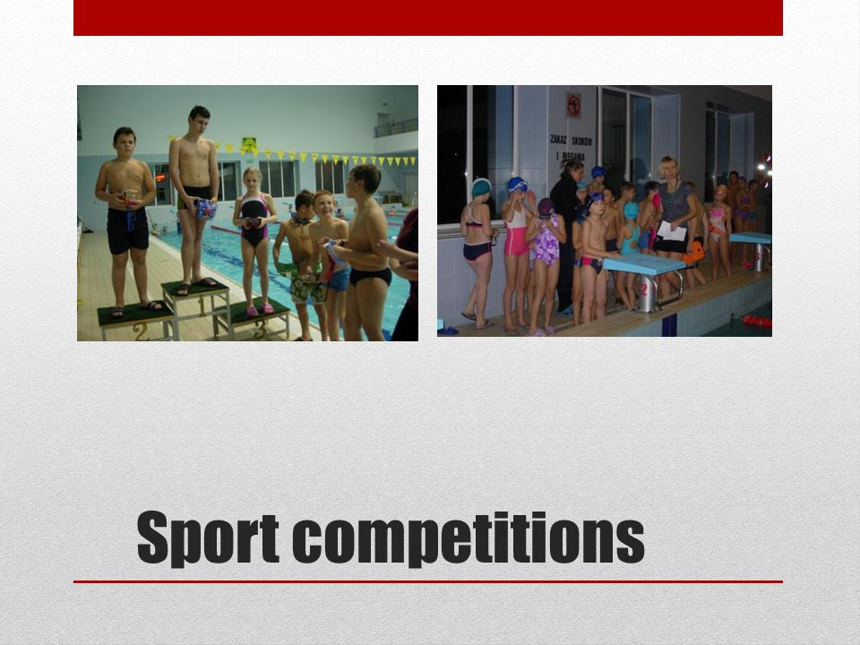 Sport competitions