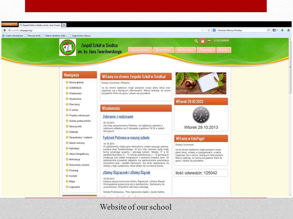Website of our school