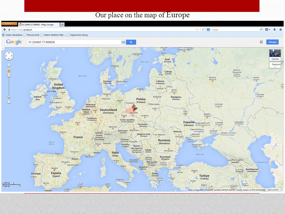 Our place on the map of Europe