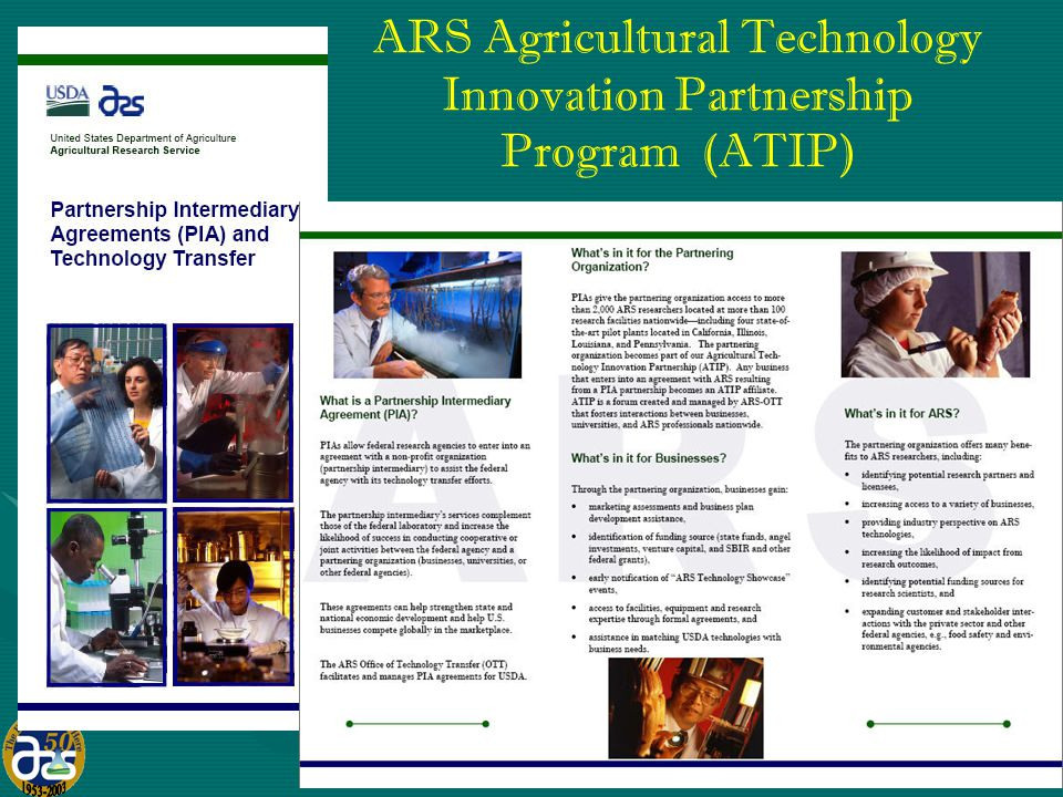 15 ARS Agricultural Technology Innovation Partnership Program (ATIP)