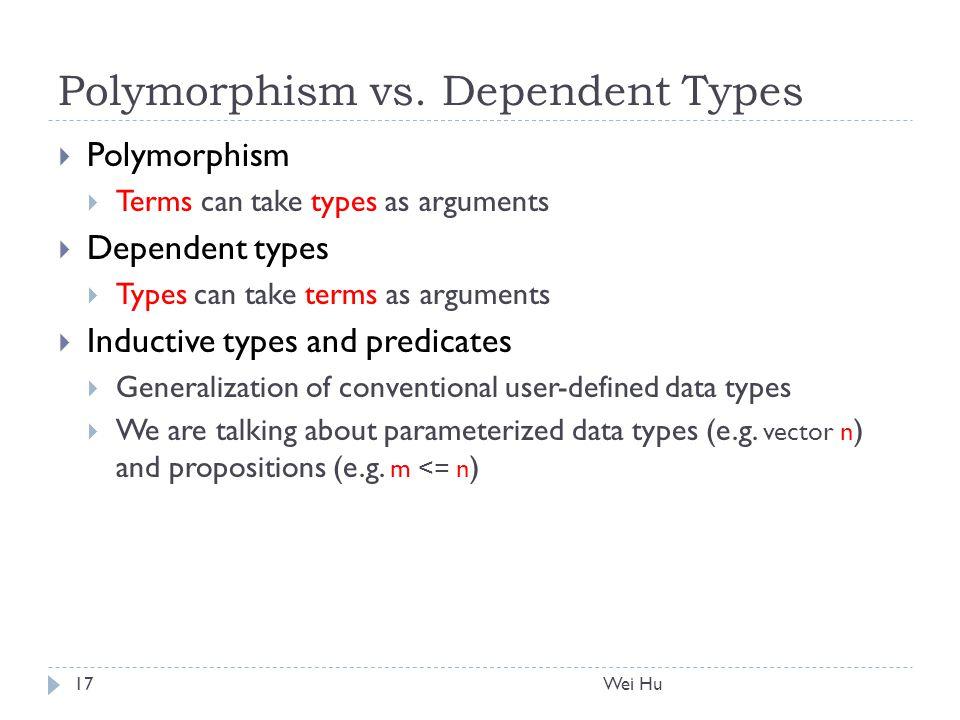 Polymorphism vs.