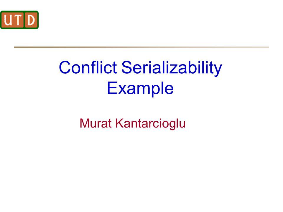 Conflict Serializability Example Murat Kantarcioglu