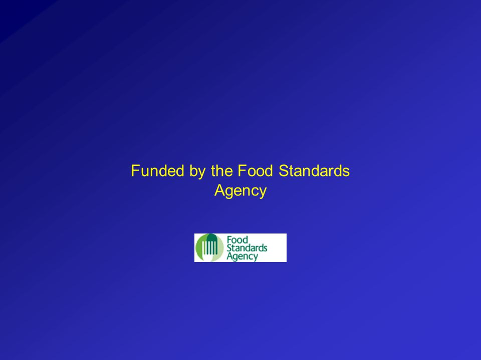 Funded by the Food Standards Agency
