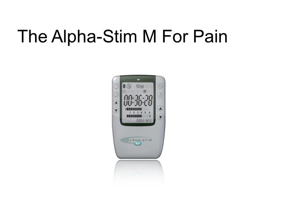 The Alpha-Stim M For Pain