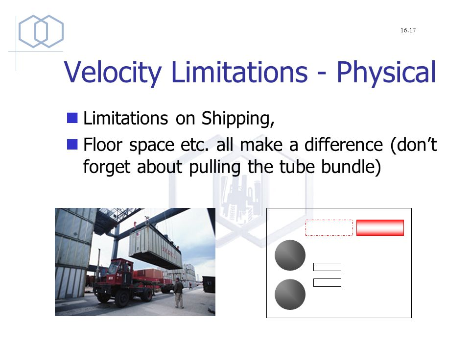 Velocity Limitations - Physical Limitations on Shipping, Floor space etc.