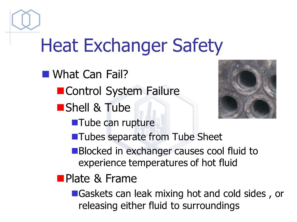 Heat Exchanger Safety What Can Fail.