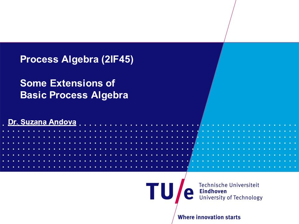 11 Process Algebra (2IF45) Conservative ground extension of T1 with T2: T1 = (  1, E1) and T2 = (  2, E2) are two equational theories.