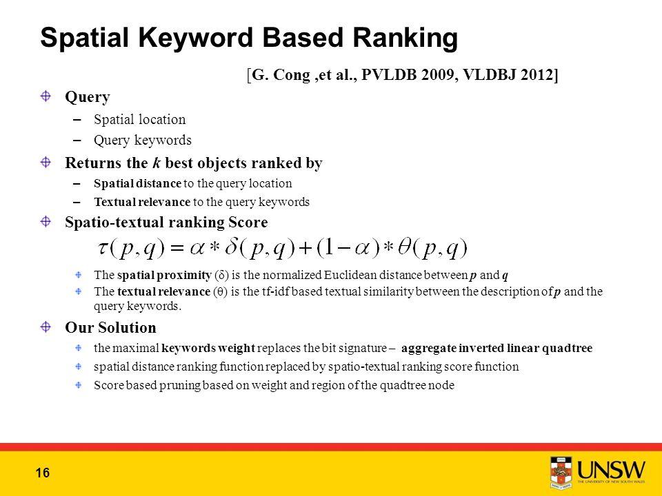 16 Spatial Keyword Based Ranking [G.