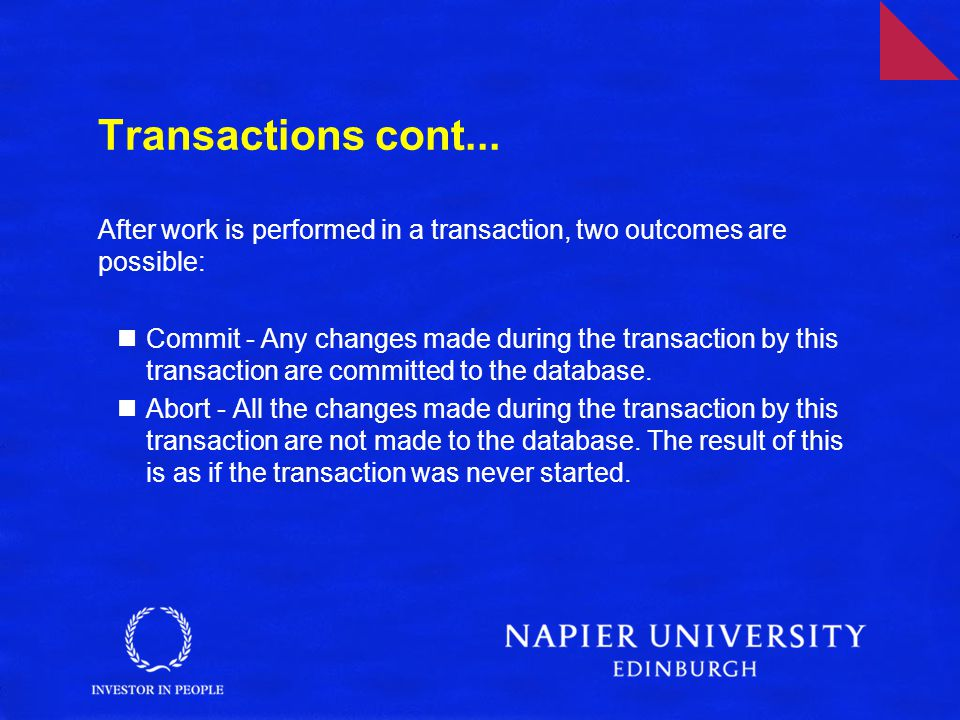 Transactions cont...
