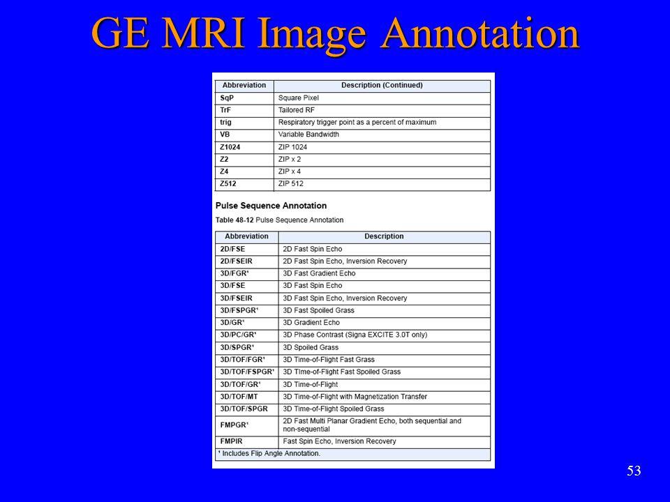 53 GE MRI Image Annotation
