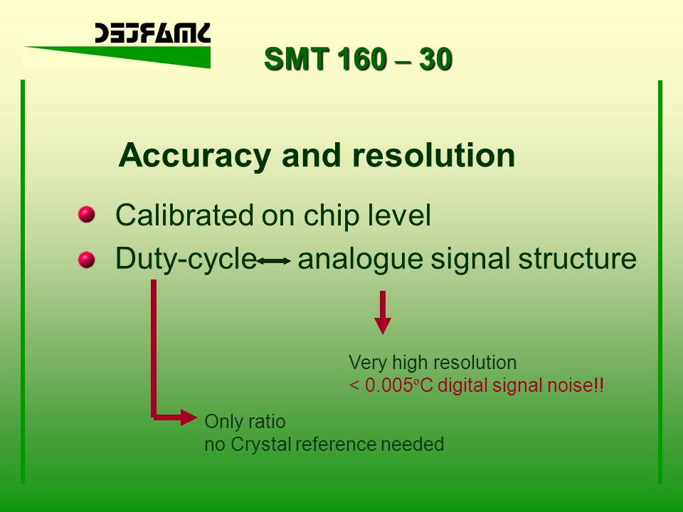 SMT 160 – 30 Available tools for quick design-in Our WWW software examples interface boards for 8 temperature sensors Ask your distributor special support for your application
