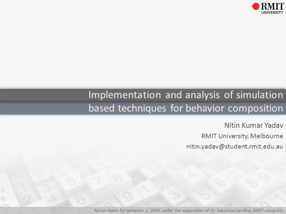 Behavior Composition Simulation Techniques Implementation Analysis Contents