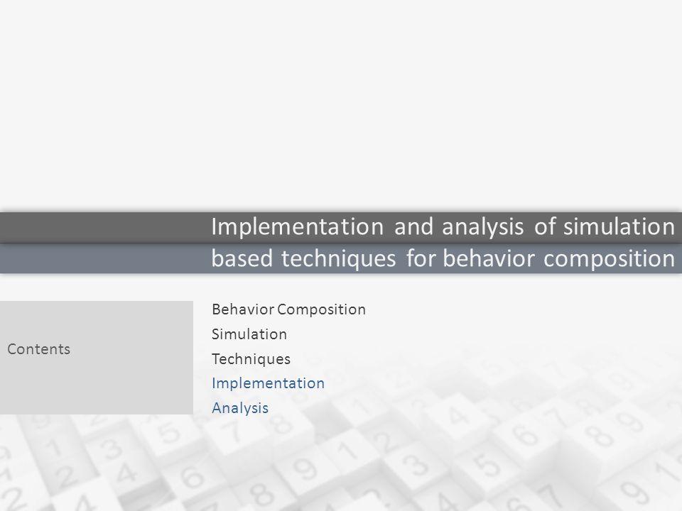 Behavior Composition 3 What is a behavior .