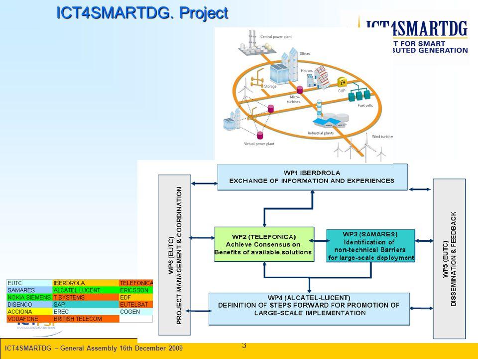ICT4SMARTDG – General Assembly 16th December 2009 ICT4SMARTDG. Project 3