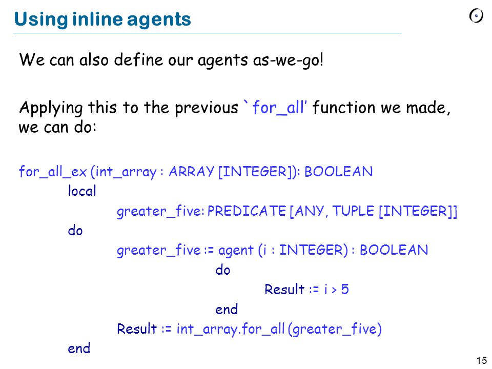 15 Using inline agents We can also define our agents as-we-go.