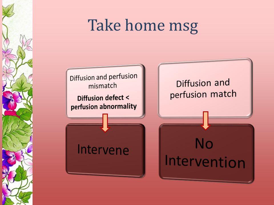 Take home msg