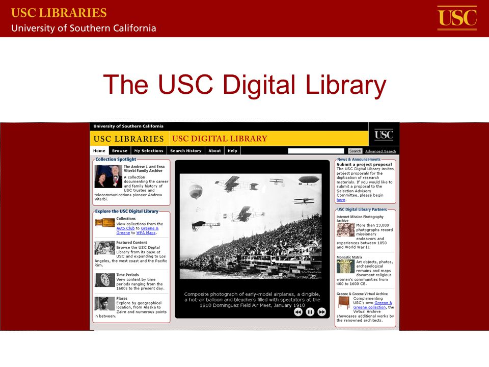 The USC Digital Library
