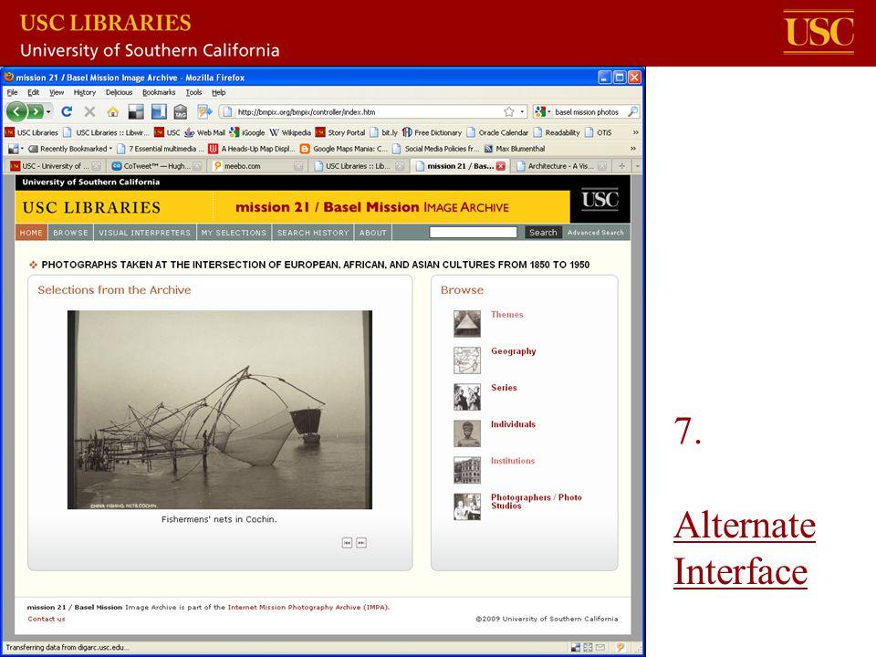 7. Alternate Interface Alternate Interface