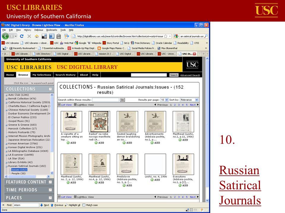 10. Russian Satirical Journals Russian Satirical Journals
