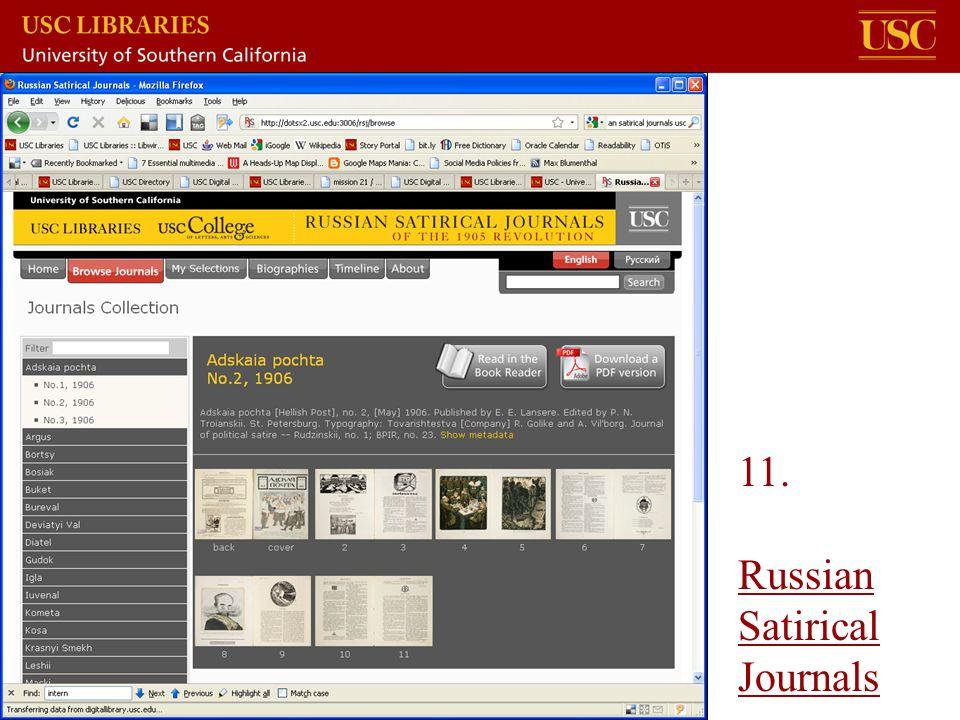 11. Russian Satirical Journals Russian Satirical Journals