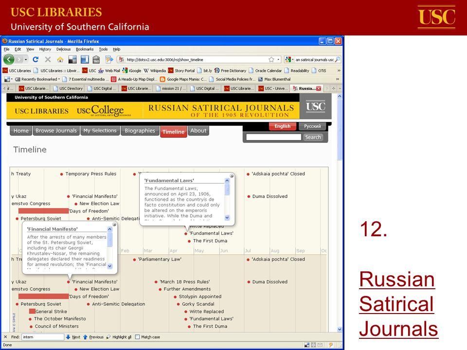 12. Russian Satirical Journals Russian Satirical Journals