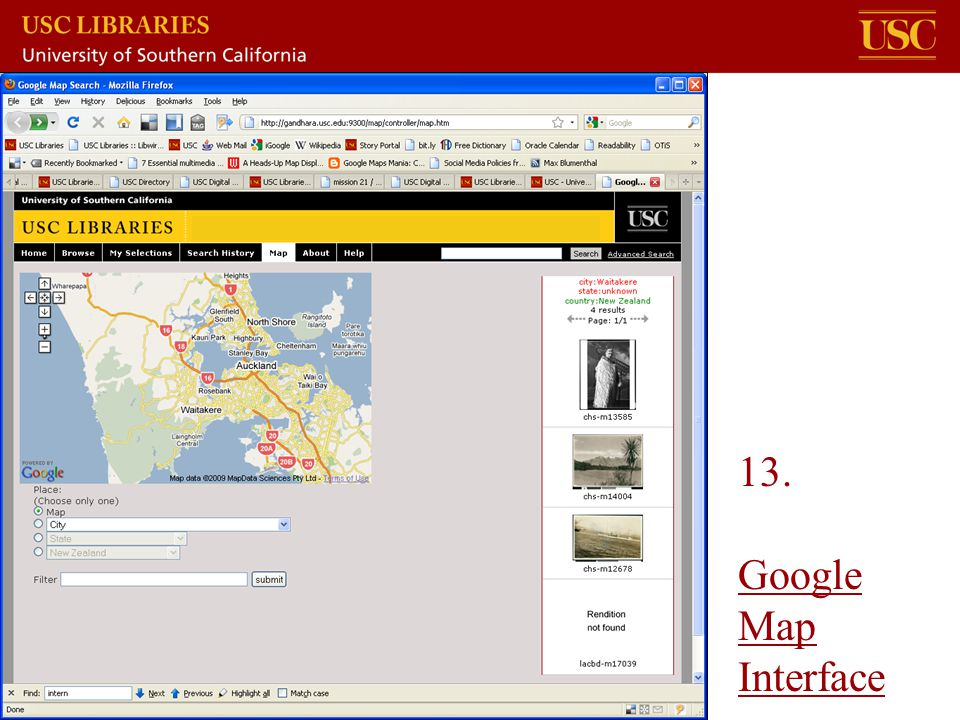 13. Google Map Interface Google Map Interface