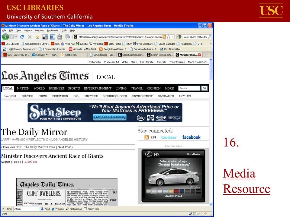16. Media Resource Media Resource