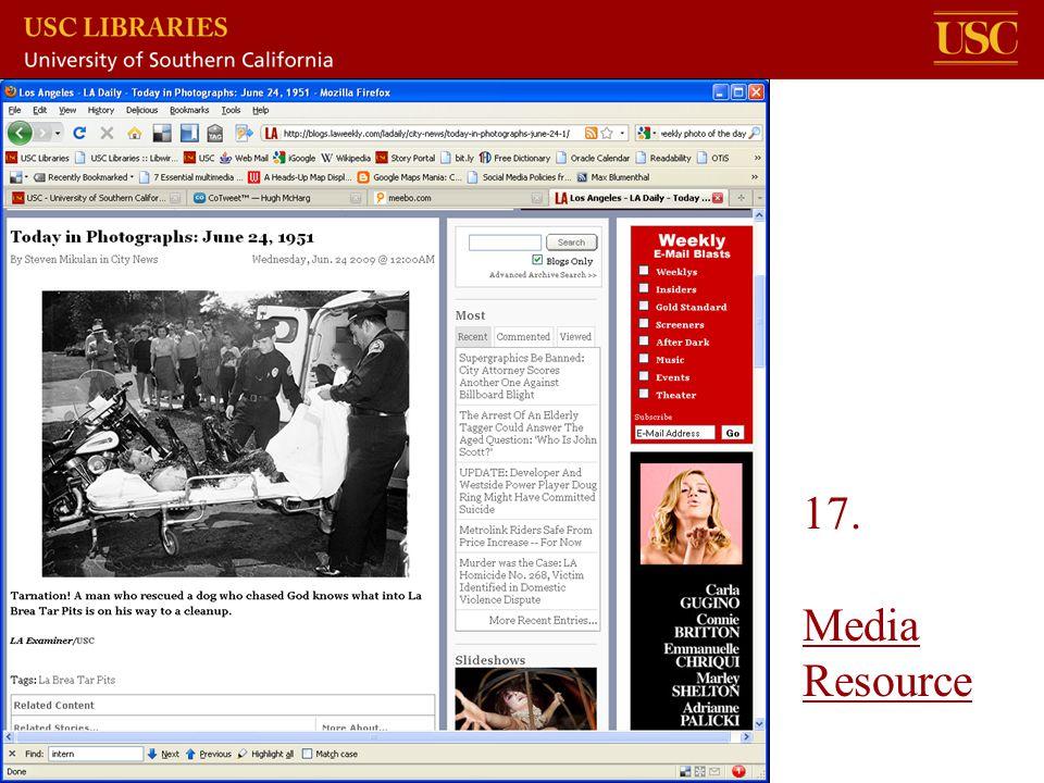 17. Media Resource Media Resource