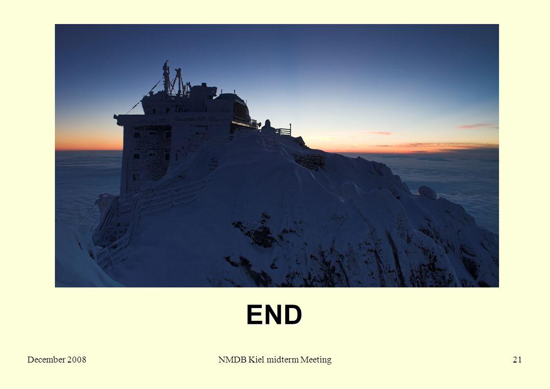 December 2008NMDB Kiel midterm Meeting21 END