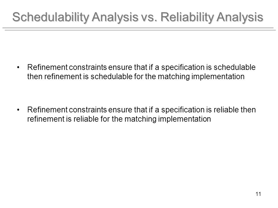 11 Schedulability Analysis vs.