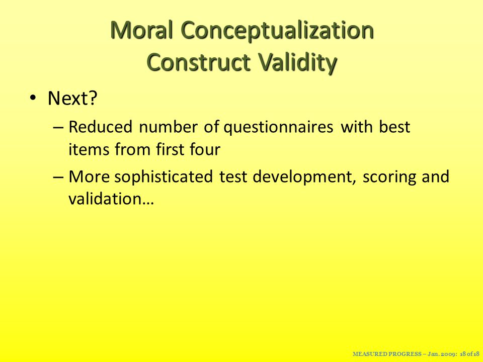 Moral Conceptualization Construct Validity Next.